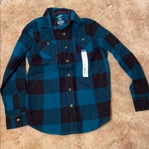 Boys Arizona Plaid Flannel Long sleeve shirt. NWT